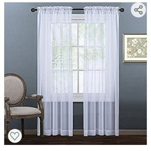 Nicetown Sheer Voile Curtains